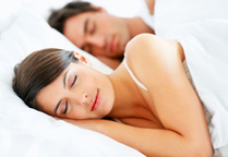 Couple achieving comfort and relaxation