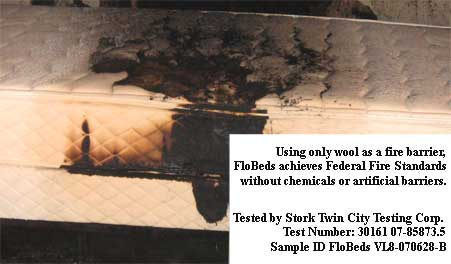 FloBeds Burn Test by Stork Twin Testing Corp
