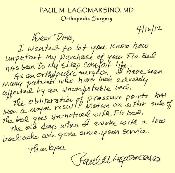 Lagomarsino Letter